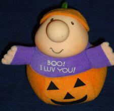 "Ziggy 6"" plush Halloween Pumpkin ""Boo! I Luv You!"" 1990"