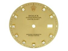 Rolex Champagne Diamond Dial for 36mm Two Tone & Gold Datejust Watch #16233