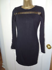 AX Paris Black Ribbed Bodycon Midi Dress UK 6 - Worn once