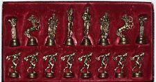Vintage Marinakis Chess Set Greek Olympians Rare Mythology & Olympic Games