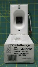 Mulberry 40582 Clock Hanger Outlet, Smooth White Semi-Gloss, 15a-125V