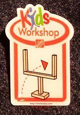 LMH PINBACK Pin PAPER FOOTBALL GOAL POST GAME Home Depot Kids Workshop Ball 2008