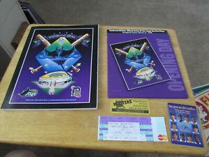 1998 MLB Tampa Bay Devil Rays Vs Detroit Tigers Inaugural Season Ticket/Program