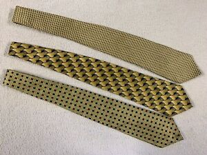 Gold Neckties in Great Shape - Lot of 3