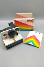 Vintage Polaroid SX 70 One Step Land Camera W/ Rainbow Stripe - Original Box -A9