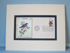 State Bird & Flower of Michigan - the Robin & Apple Blossom & First Day Cover