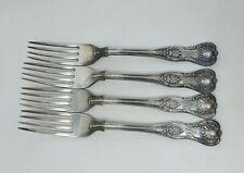 "MAPPIN & WEBB Cutlery - KINGS Pattern - 4 Dinner Fork / Forks - 8"" Monogrammed B"