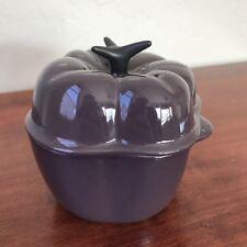LE CREUSET Stoneware Petite Casserole Mini Cocotte Bell Pepper Cassis/Purple
