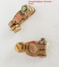 12 V Car Battery Terminals Clamps Connectors   Brass Bolts P&N+ / - (M 611)
