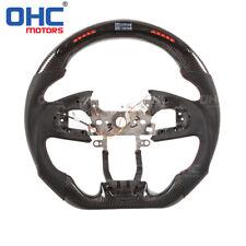 Real Carbon Fiber LED Smart Steering Wheel for Honda Civic Type R CRV
