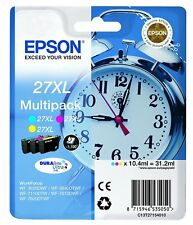 Epson C13T27154010 MULTIPACK 3-COL 27XL DURABRITE ULTRA 27XXL Workforce 7620 New