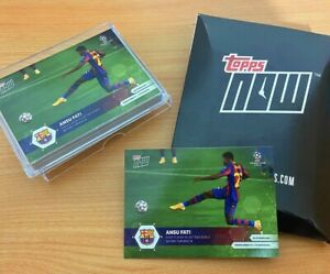 TOPPS Now Ansu Fati Barcelona Rookie Champions League Soccer Card  #003