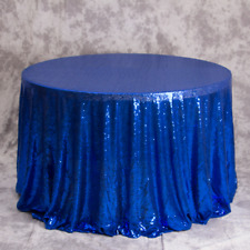 Royal Blue Glitter Sequin Tablecloth Wedding Engagement Reception Party Decor