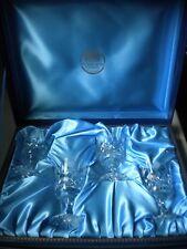 Thomas Webb Crystal BMW Wine Cordial Glass Set of 4 Unused in Original Box