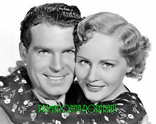 "MADGE EVANS & FRED MACMURRAY 8X10 Lab Photo 1935 ""MEN WITHOUT NAMES"" Portrait"