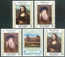 Aden Upper Yafa 1967 ** Mi.23/27 A Gemälde Paintings Da Vinci Mona Lisa