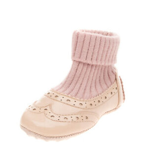 RRP €150 TOD'S JUNIOR Sock Boots EU 18 UK 2 US 3 Contrast Leather Made in Italy