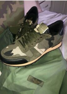 valentino camoflage trainers size 9 worn once
