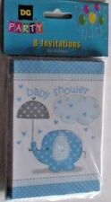 BABY SHOWER INVITATIONS 8 PACK SET WITH 8 ENVELOPES BLUE SHOWER C MY OTHER ITEMS