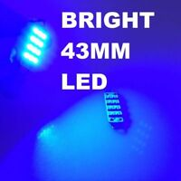 43mm BRIGHT BLUE 12SMD LED Festoon Bulb Interior Light Glove Box Dome 42mm 44mm