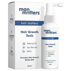Man Matters Hair Tonic | 3% Redensyl | DHT Blocker | Reduce Hair Fall |60 ml