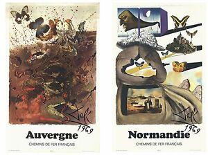 Bundle- 2 Assorted Salvador Dali Chemins de Fer Francais Posters