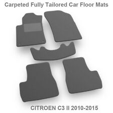 Fully Tailored Classic Carpeted Car Floor Mats Velour fit Citroen C3 2010-2015