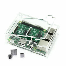 Clear Case with 3 Pcs Aluminum Heatsink Cooler Cooling Kit for Raspberry Pi 3