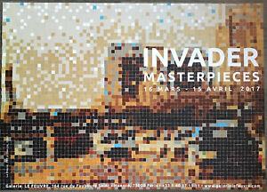 Affiche + Showcard INVADER Masterpieces Exhibition 2017 Poster Street Art