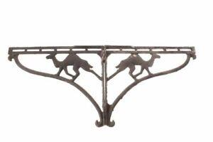 Pair Antique Country Store Cast Iron Camel Shelf Brackets