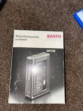More details for vintage sanyo m1118 compact cassette recorder boxed tested working