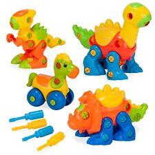 Build & Learn Dinosaur Toys - Interlocking Model STEM Play Set for Kids Age 3+