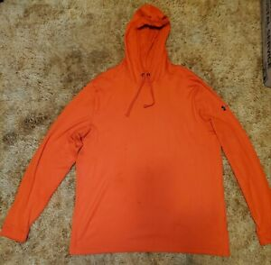 Under Armour Men's Hooded Thermal Long Sleeve Shirt Size 2XL Orange