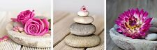 Tranquil Spa Montage Calming Set of 3 Canvas Wall Art Pictures