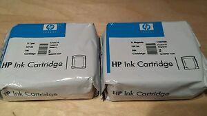 Original HP 84 Light Cyan & Light Magenta Ink Cartridges C5017A C5018A, HP84
