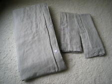 100% Queen/ Full Linen Duvet Cover + 2 Regular Shams Pottery Barn Soft Gray.Euc