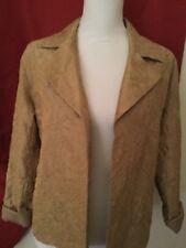 Chico's Woman's Beautiful  Gold Silk Jacket Size 1 Medium 8/10