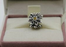 AUTHENTIC PANDORA EDELWEISS, YELLOW CZ, 791176CZY   #786