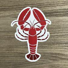 """Lobster 4"""" Tall Vinyl Sticker - BOGO"""