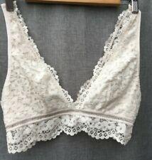 Victoria's Secret Bralette Lace Cream Pull Over Lined Cup Size L