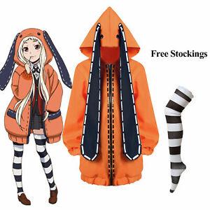 Kakegurui Compulsive Gambler Runa Yomozuki Cosplay Costume Coat Jacket Suit