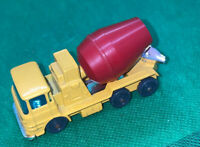 Vintage Husky Cement Mixer Yellow & Red Good Condition Die-Cast ERF 66GX