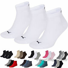 Puma Sports Socks Quarters (3 Pair Pack) Plain/Mix Packs UK Sizes 2.5 up to 14