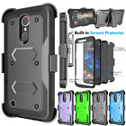For LG K30/Premier Pro LTE Case Kickstand Belt Clip Cover with Screen Protector