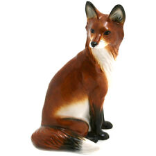 John beswick fox, assis peint à la main en céramique figurine (boxed)