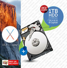 Macbook Pro, Mac Mini:: 1TB (1000GB) de 2.5 Pulgadas:: HDD (disco duro) Os X cargado