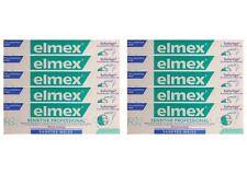 10x Elmex sensitive professional sanftes + natürliches Weiss Zahnpasta Zahncreme