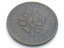 Lower Bas Canada Montreal Bouquet Un Sou with Agriculture Commerce Token I827