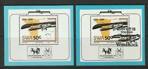 South West Africa 1989 75th Anniv of Aviation in SWA Sheets, CTO and Used