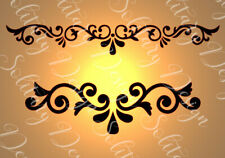 Vintage Damask Plastic furniture & craft stencil Shabby Chic (A4) french style J